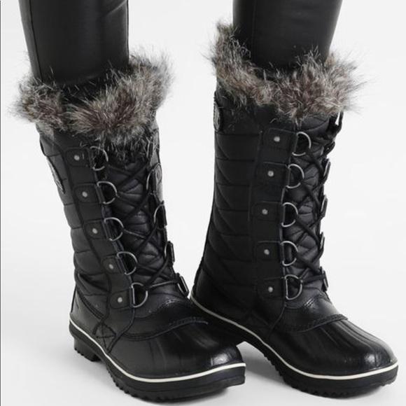 Sorel Torino Black Fur Boots 85